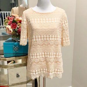 Beautiful lace half sleeve lace blouse
